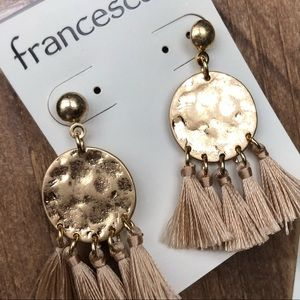Francesca's Collections Jewelry - NWT Francesca's Natasha Chandelier Tassel Earrings